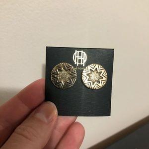 House of Harlow Mini Sunburst Stud Earrings Enamel